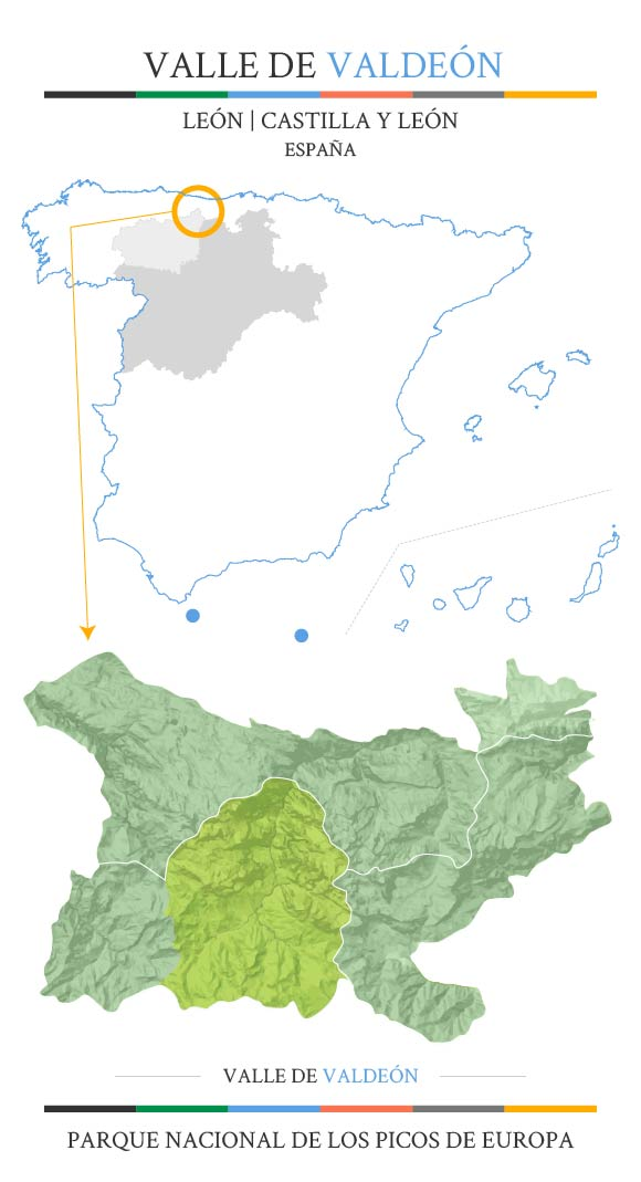 Mapa situación del Municipio de Valdeón