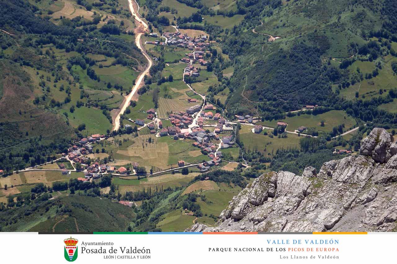 Los Llanos de Valdeón desde Pambuches, Valle de Valdeón