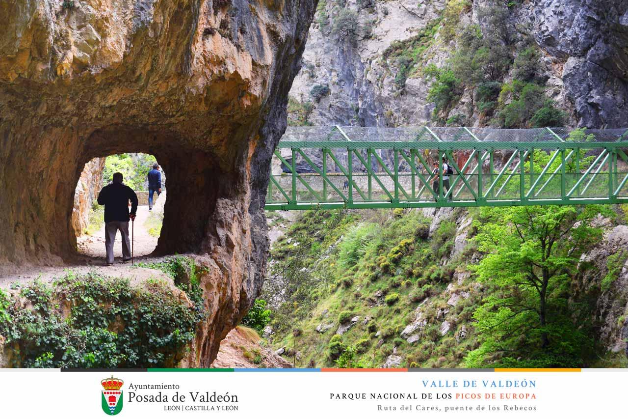 Ruta del Cares, puente de los Rebecos