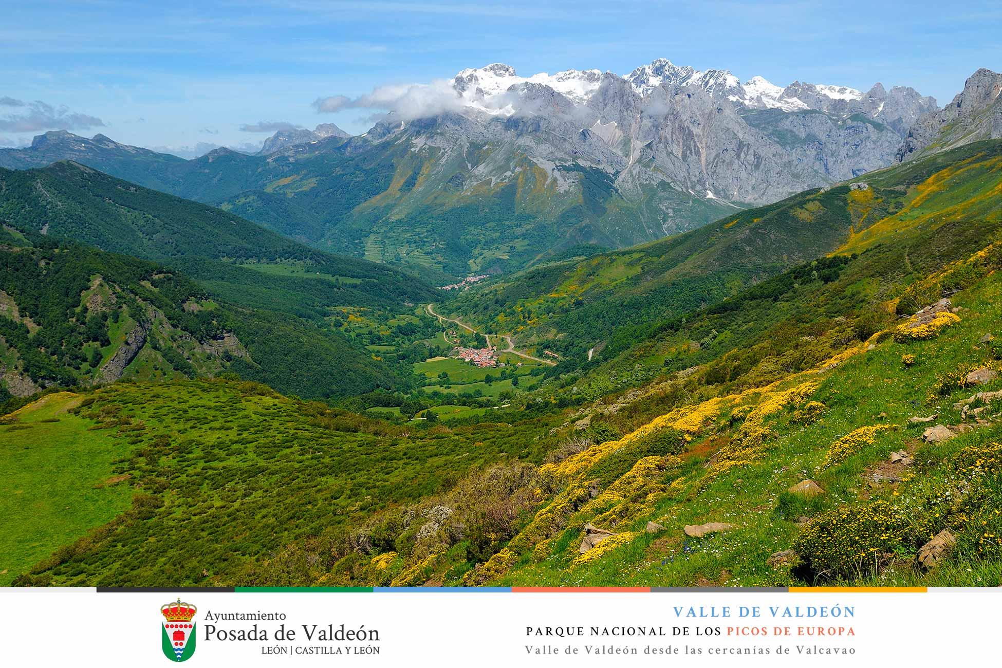 Valle de Valdeón desde las cercanias de Valcavao