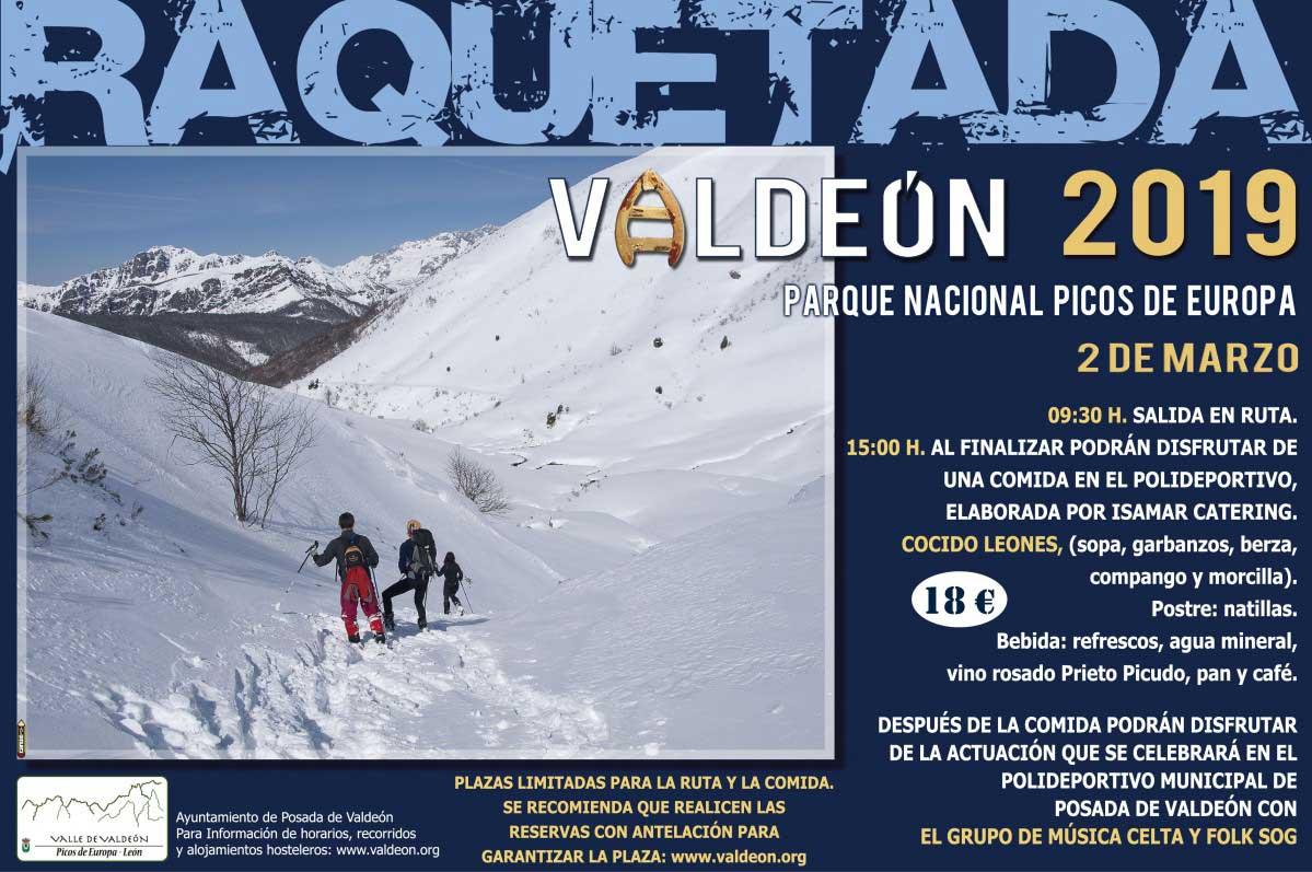 Cartel raquetada Valdeon 2019