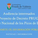 Proyecto de decreto PRUG Parque Nacional de Picos de Europa