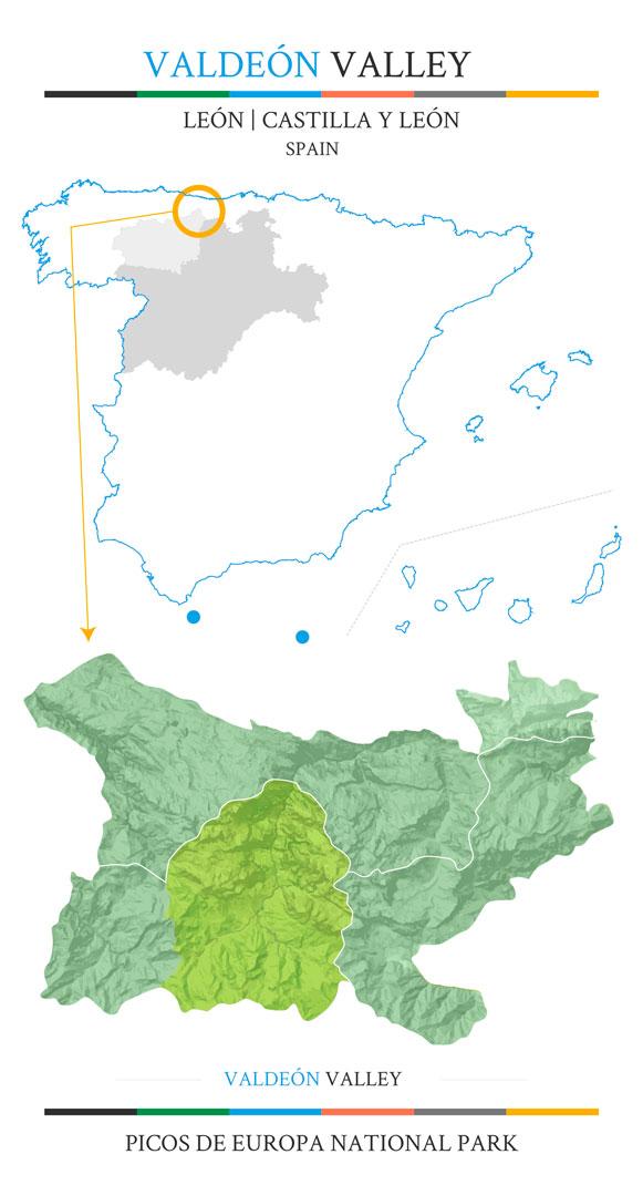 Valdeón Valley location map